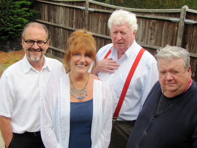 Here I am with Gareth Armstrong, Louise Jameson, and Ian McNeice at a Big Finish recording.
