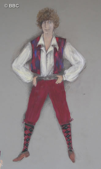 June's design for Tom's waistcoat and breeches