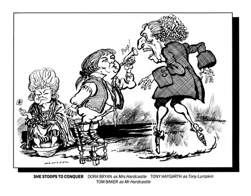 The Cartoonist, William Hewison's portrayal of She Stoops to Conquer in Punch Reproduced with permission of Punch Ltd.