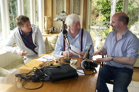 Recording the Podcast - in my hand is the first script of my new adventures! Picture © Sue Jerrard