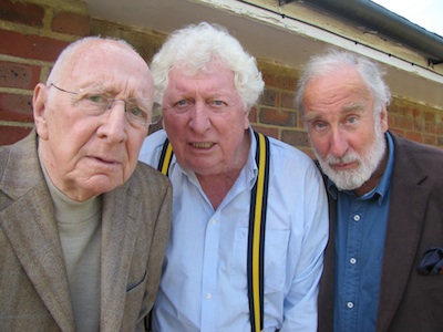 Tom with Trevor Baxter and Christopher Benjamin