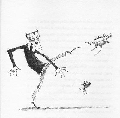 Robert Caligari kicks his sister's pig  Copyright David Roberts