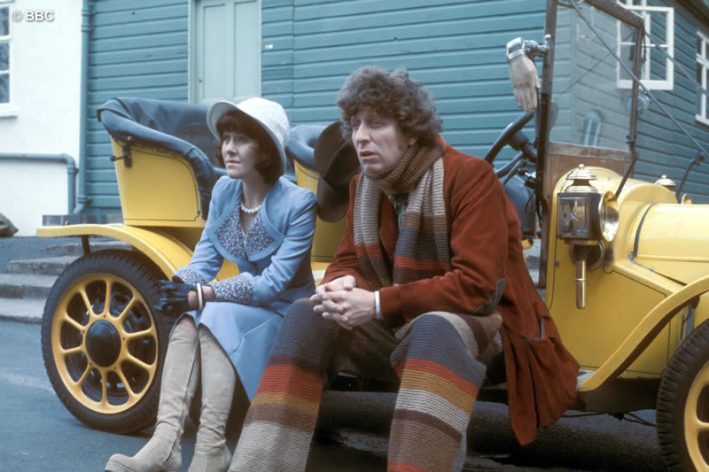 Lis and Tom on Bessie right at the beginning of my time on Doctor Who.  Picture courtesy of the BBC